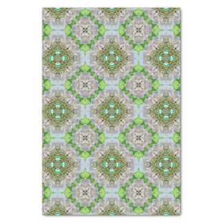 Papier Mousseline Mandala floral bling la fausse pierre de vert vert