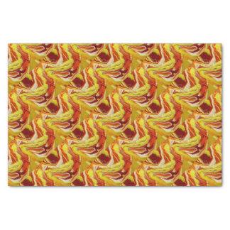 Papier Mousseline Marbre ardent