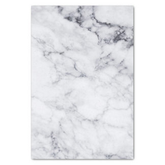 Papier Mousseline Marbre blanc de Faux avec le motif gris