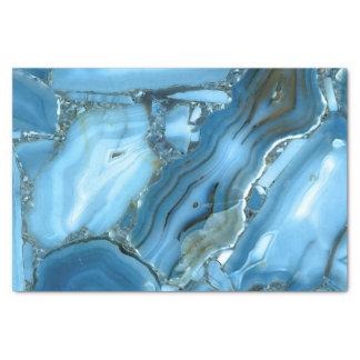 Papier Mousseline Marbre bleu profond