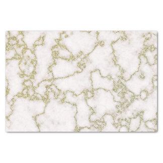 Papier Mousseline Marbre élégant de blanc et d'or