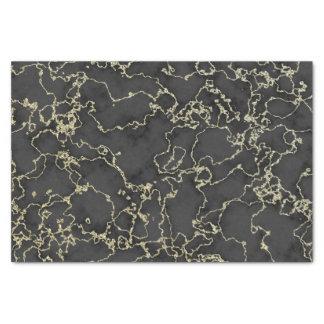 Papier Mousseline Marbre élégant de noir et d'or