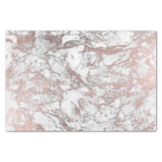 Papier Mousseline Marbre élégant d'or rose blanc moderne élégant de