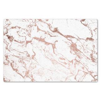 Papier Mousseline Marbre rose de blanc d'or de faux chic moderne