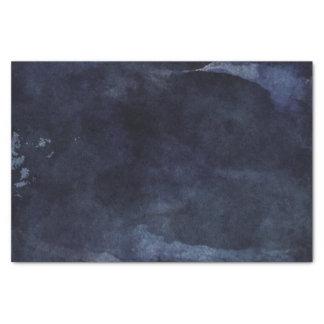 Papier Mousseline Mariage moderne d'aquarelle de bleu marine