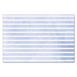 Papier Mousseline Mariage moderne d'aquarelle de rayure de bleu
