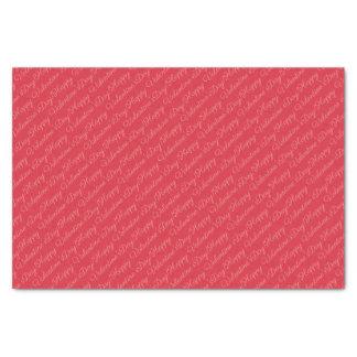Papier Mousseline Monogramme rouge de heureuse Sainte-Valentin