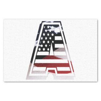 Papier Mousseline Monogramme une initiale américaine de drapeau des