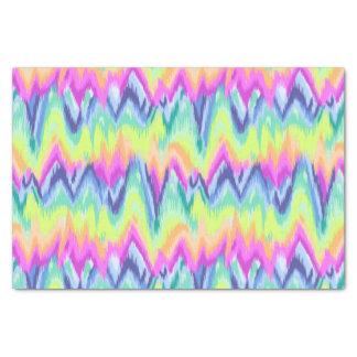 Papier Mousseline Motif au néon abstrait coloré chic de Chevron