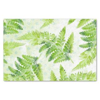 Papier Mousseline Motif botanique d'aquarelle de belle fougère verte