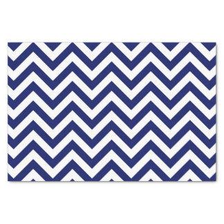Papier Mousseline Motif de bleu marine et blanc grand de Chevron de