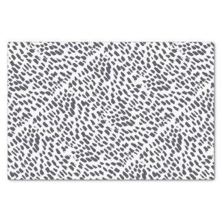 Papier Mousseline Motif de course de brosse de léopard