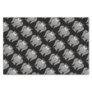 Papier Mousseline Motif de croquis de hibou