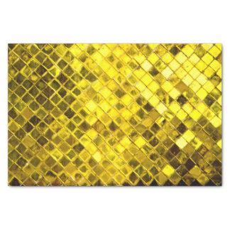Papier Mousseline Motif de fête de diamant d'or brillant audacieux