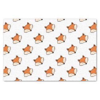 Papier Mousseline Motif de Fox