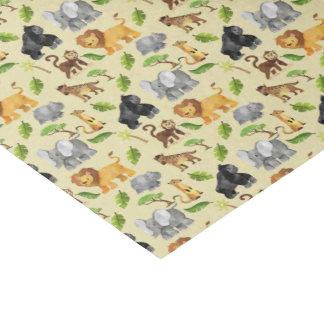 Papier Mousseline Motif de jungle de safari d'animal sauvage