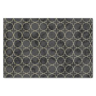 Papier Mousseline Motif de marbre noir élégant d'or