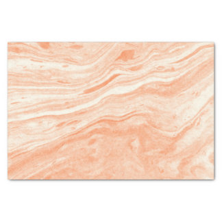 Papier Mousseline Motif de marbre orange-clair et blanc