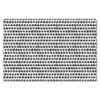 Papier Mousseline Motif de point audacieux noir et blanc de polka