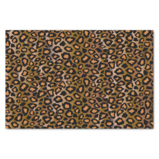 Papier Mousseline Motif de poster de animal de léopard