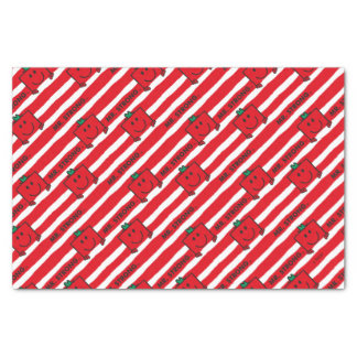Papier Mousseline Motif de rayures de rouge de M. Strong |