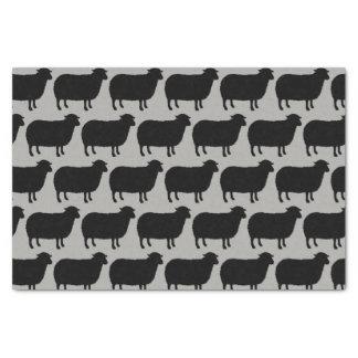 Papier Mousseline Motif de silhouettes de moutons noirs