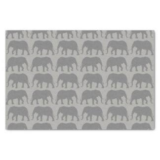 Papier Mousseline Motif de silhouettes d'éléphant africain