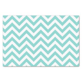 Papier Mousseline Motif de zigzag blanc de Chevron d'Aqua de