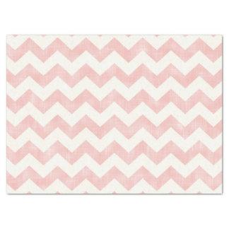 Papier Mousseline Motif de zigzag rose-clair de Chevron de beau bébé