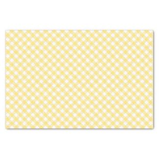 Papier Mousseline Motif diagonal jaune de guingan