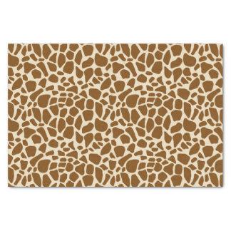 Papier Mousseline Motif d'impression de girafe de Brown