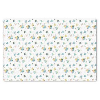 Papier Mousseline Motif floral coloré