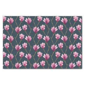 Papier Mousseline Motif floral d'aquarelle de magnolia