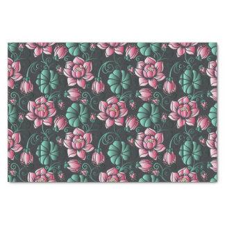 Papier Mousseline Motif floral élégant de motif rose de Lotus