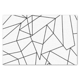 Papier Mousseline Motif géométrique noir et blanc moderne simple