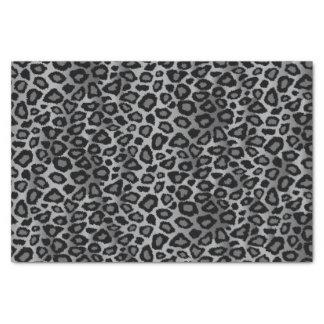 Papier Mousseline Motif gris de conception de léopard