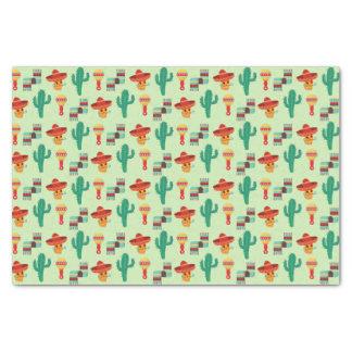 Papier Mousseline Motif mexicain original de cactus et de sombrero