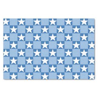 Papier Mousseline Motif mignon de damier d'étoile
