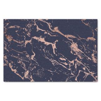 Papier Mousseline Motif moderne de marbre d'or de rose de bleu
