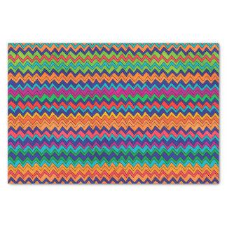 Papier Mousseline Motif multicolore de Chevron