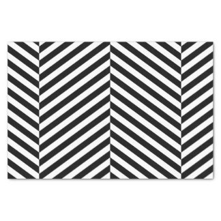 Papier Mousseline Motif noir et blanc moderne de rayures de Chevron