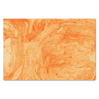Papier Mousseline Motif orange de marbre de tons