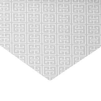Papier Mousseline Motif principal grec gris