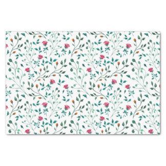 Papier Mousseline Motif rose de floraison d'aquarelle