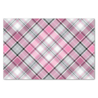 Papier Mousseline Motif rose de plaid chic