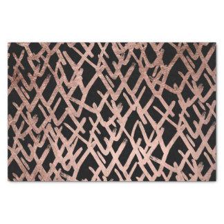 Papier Mousseline Motif rose d'or de faux géométrique abstrait
