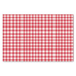Papier Mousseline Motif rouge/blanc de guingan