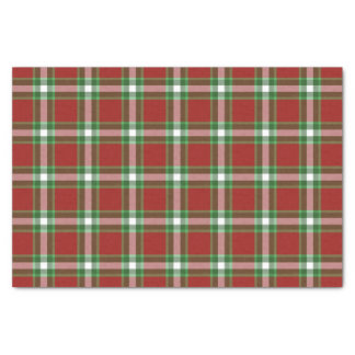 Papier Mousseline Motif rouge de plaid de bûcheron de cool rouge