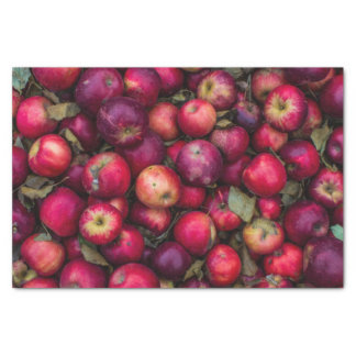 Papier Mousseline Motif rouge de pommes d'été