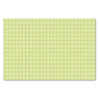 Papier Mousseline Motif vert de guingan